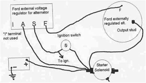 ford alternator wiring diagram internal regulator circuit diagram