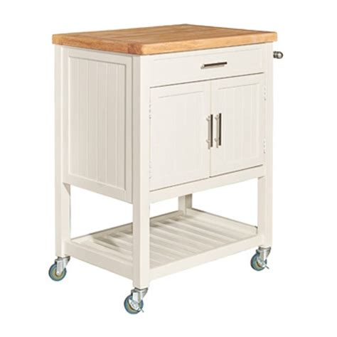 powell furniture sydney white kitchen cart the home