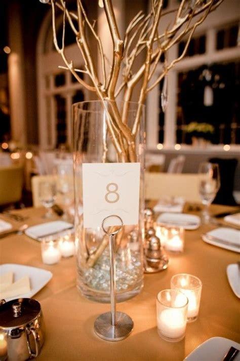 gold twig centerpieces gold silver branch centerpiece