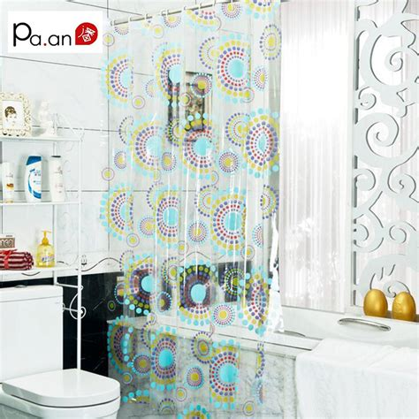 new arrival transparent pvc bathroom shower curtain