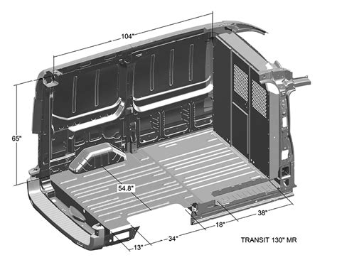 ford transit dimensions interior dimensions