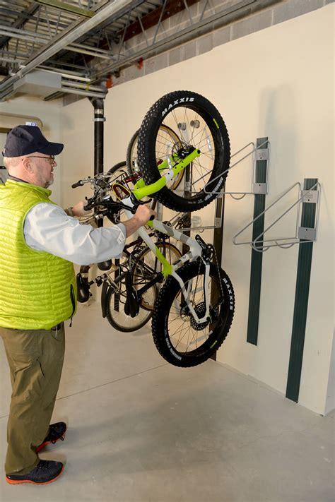 wallrack tire guard plate vertical bike room storage cyclesafe