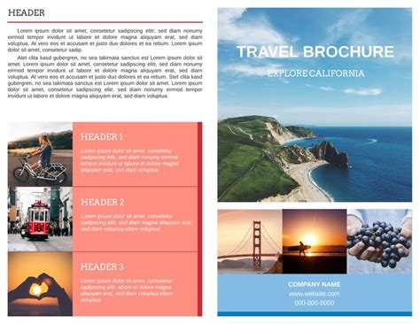 tourist brochure template free download tourism brochure template free travel brochure templates