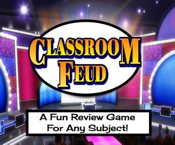 classroom feud  fun review game   subject  kids