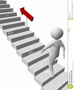 Man climbing the stairs stock illustration. Image of ...