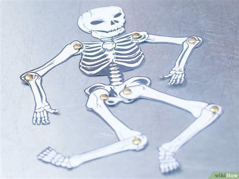 como hacer  esqueleto humano de papel  pasos