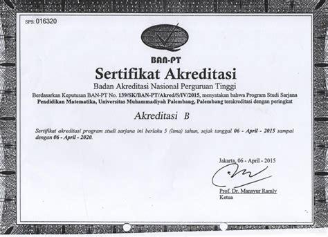 sertifikat akreditasi fakultas keguruan  ilmu
