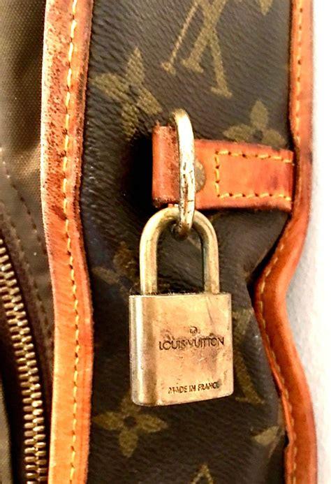 louis vuitton canvas  leather lv monogram hanging travel garment bag  sale  stdibs