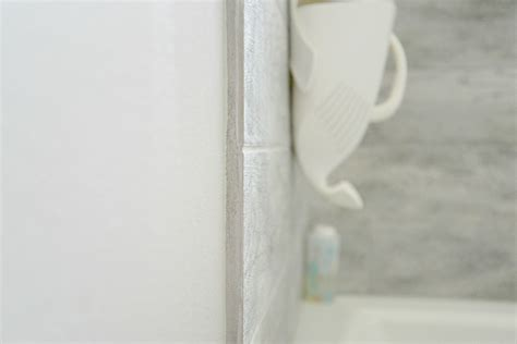 finishing tile edges without bullnose bathroom renovation on a budget update a year later 8933