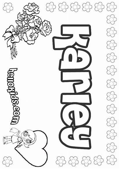 Karley Coloring Pages Hellokids Names