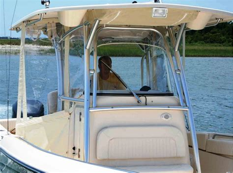 Boat T Top Window by T Top Visor Front Window Side Curtains Wings Strataglass