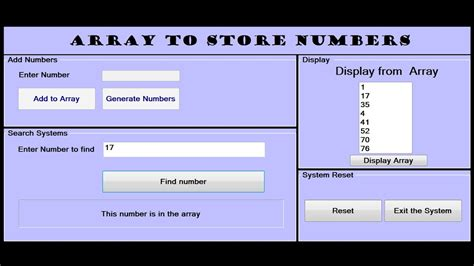 How To Create Array To Store Numbers In Visual Basic Net Youtube