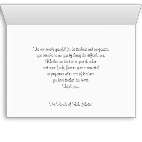 thank you notes sympathy funeral greetings