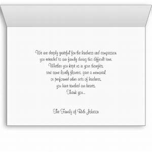 wording for a memorial letter just bcause With bereavement thank you letter