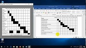 How To Make Gantt Chart In Microsoft Word