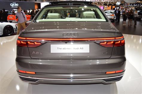2018 Audi A8 L Rear At 2017 Dubai Motor Show