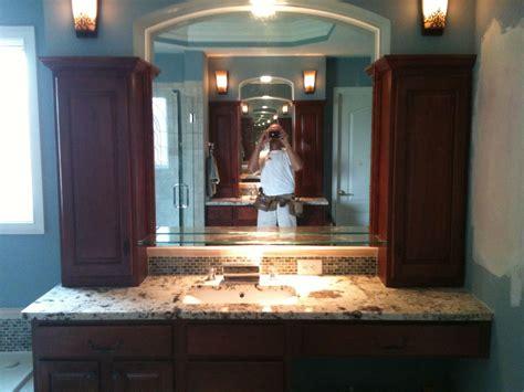 vanity tower  bath vanities built  custom  bath vanity  granite tops