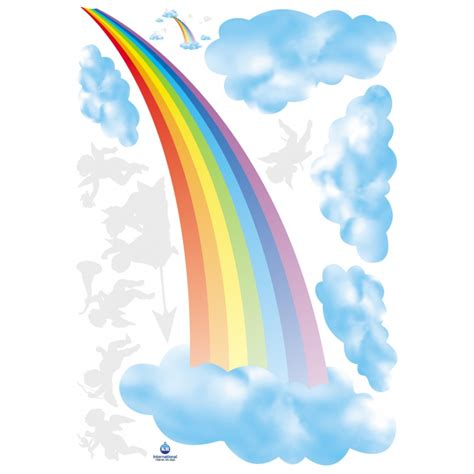 sticker arc en ciel anges stickers enfants ambiance sticker