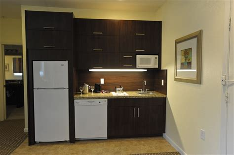 Modern Kitchen Design For Condo, Hotel Room With