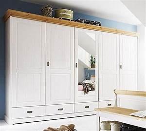 Massivholz Kleiderschrank Weiß : massivholz kleiderschrank schrank 5t rig kiefer 2farbig ~ Lateststills.com Haus und Dekorationen