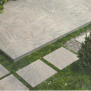 Keramogranīta flīze (Life stone grey) 60 x 60 x 2 cm - Terasei