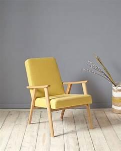 fauteuil jaune la couleur intemporelle et tendance With fauteuil design bois