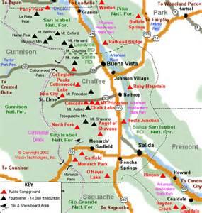 RV Parks Colorado Map