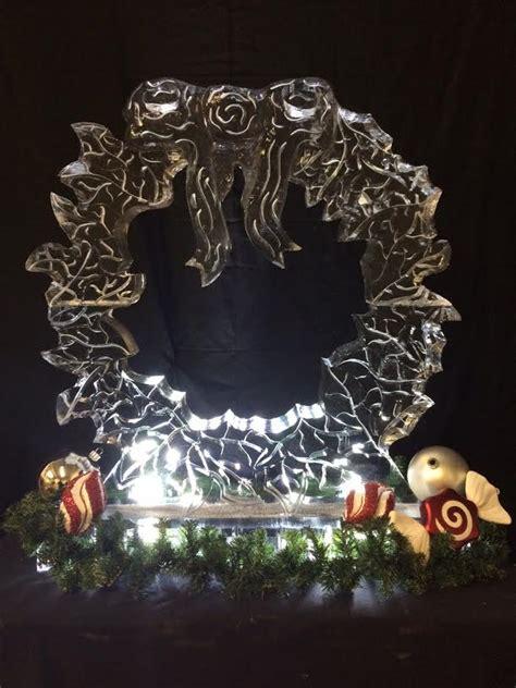 christmas artisan ice sculptures