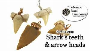 How To Wire Wrap Shark Teeth Arrow Heads Easy Diy Youtube