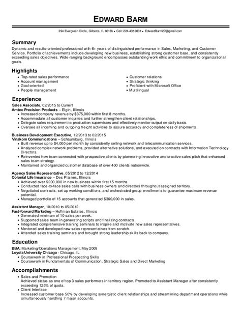 Direct Sales Resume by Edward Barm Sales Executive Resume
