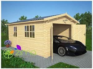 Garage Bois En Kit : garage en bois m zima chalet bois discount ~ Premium-room.com Idées de Décoration