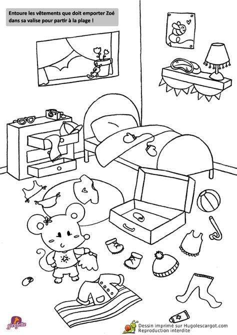 coloriage chambre jeux de coloriage de la chambre de zoé la