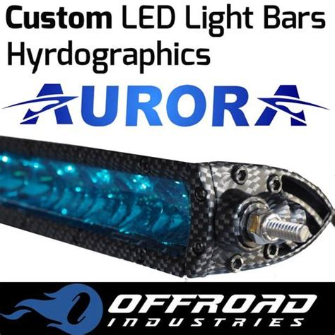 custom led light bars carbon fibre and camouflage