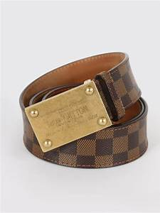 Louis Vuitton - Inventeur Damier Ebene Canvas Belt 90 ...