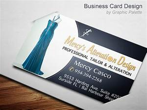 Business card design for professional tailors designers for Tailor business card