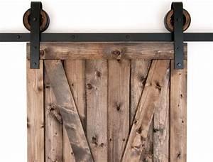 Black Rustic Slide Barn Door Closet Hardware Set, 10ft, 2
