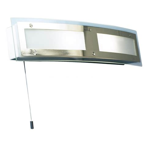 alto curved bathroom wall light with shaver socket