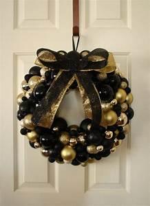 34, Black, U0026, Gold, Christmas, Decor, Ideas