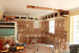 how to remove a soffit kitchen renovation update pretty handy