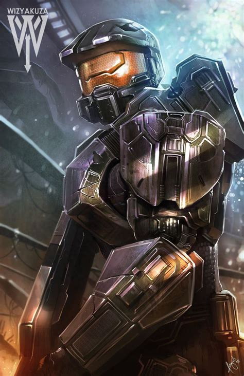 Halo Master Chief Fan Art Created By Ceasar Ian Muyuela