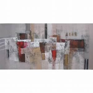 Tableau Contemporain Grand Format : tableau abstrait panoramique grand format ton brun 200x100 cm suwitra ~ Teatrodelosmanantiales.com Idées de Décoration