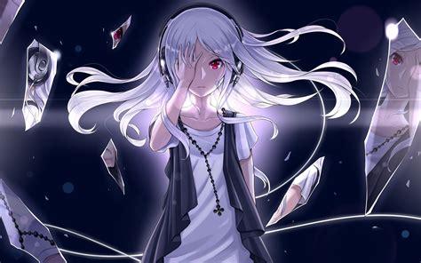 White Anime Wallpaper - anime white hair original characters