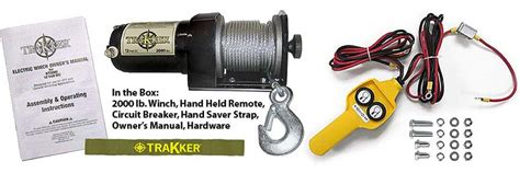 keeper corporation kt2000 trakker 1 horsepower 12 volt electric winch 2 000 pound