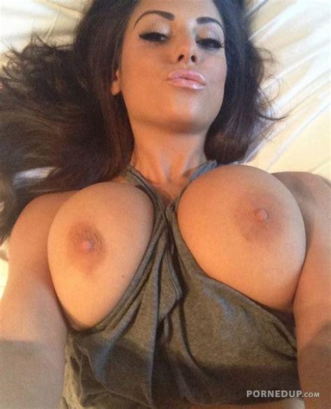 Girlfriend Selfie Showing Her Big Tits Porned Up