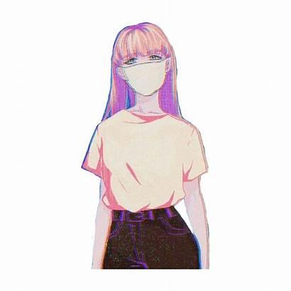 Aesthetic Anime Mask Pink Sticker Picsart