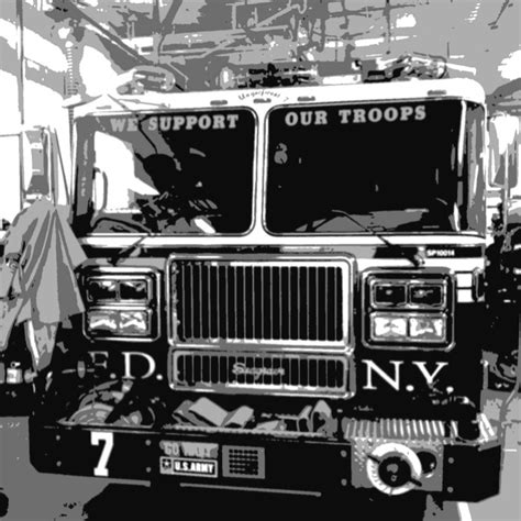 big red fire truck images
