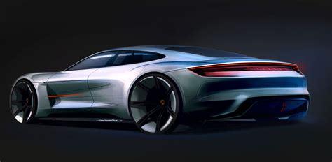 porsche concept porsche mission e concept design sketch car body design