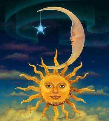 Pin by Michelle on Celestial | Sun art, Moon art, Sun moon ...