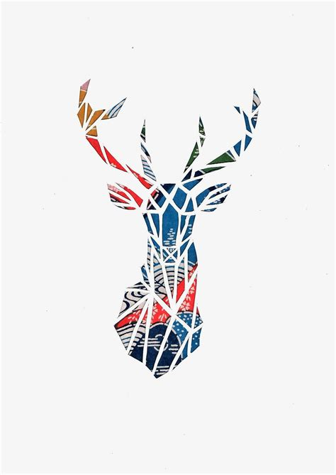 deer silhouette geometric art deer art artwork