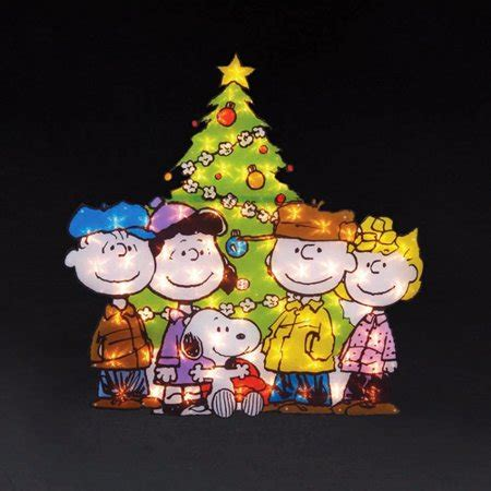 peanuts yard art snoopy  gang  tree lawn